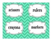 Classroom Labels-Aqua