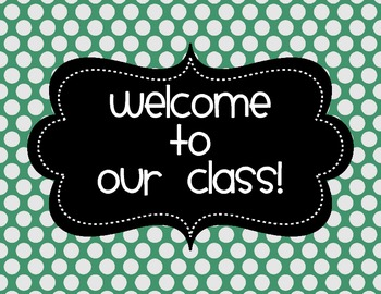 Classroom Labels {Aquamarine Polka Dot}