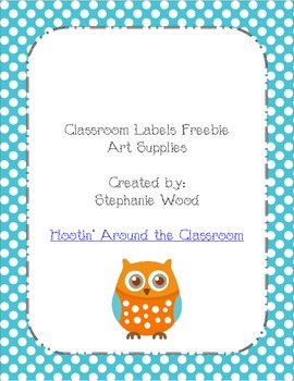 Classroom Labels-Art Supplies-Aqua