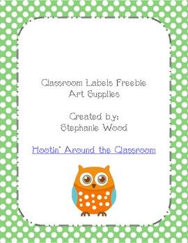Classroom Labels-Art Supplies-Green
