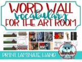 Art vocabulary Word Wall