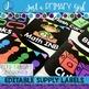 Classroom Labels  - BLACK & *Editable*