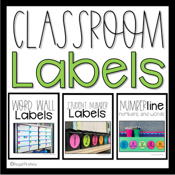 Classroom Labels BUNDLED: Word Wall, Student Numbers, and Number Line