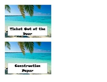 Classroom Labels- Beach Theme