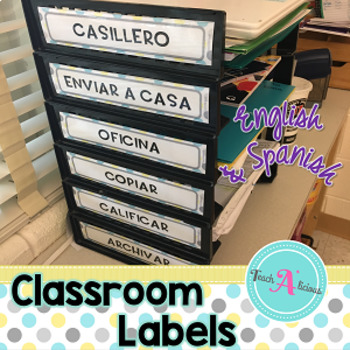 Classroom Labels | Shabby Chic