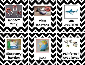 Classroom Labels ~ Black Chevron Pattern