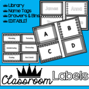 Classroom Labels: Black Tie Optional