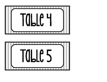 Classroom Labels Black & White