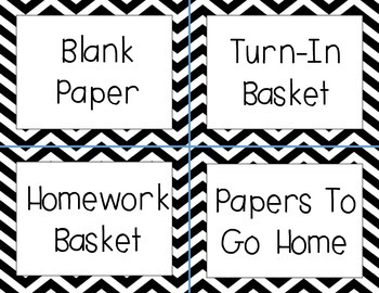 Classroom Labels (Black and White)