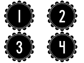 Classroom Labels- Black and White