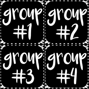Classroom Labels (Black and White Theme)