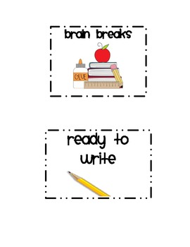 Classroom Labels Black and White Theme