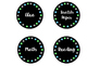 Classroom Labels- Black, grey, blue, and green