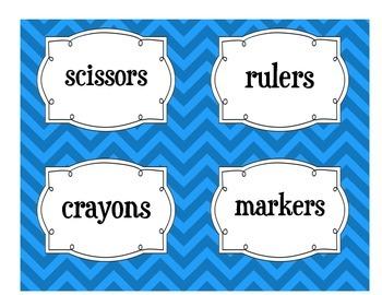 Classroom Labels-Blue