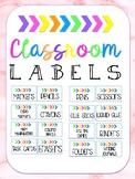 Classroom Labels (Bright!)
