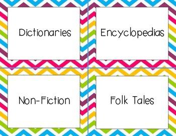 Classroom Labels (Bright)