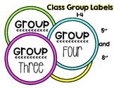 Classroom Labels: Bright Colors