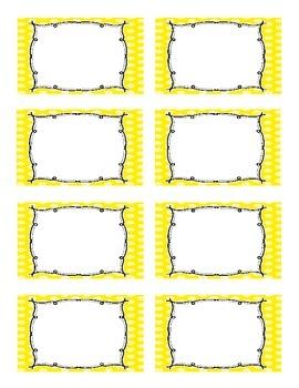 Classroom Labels Bright Polka-Dot