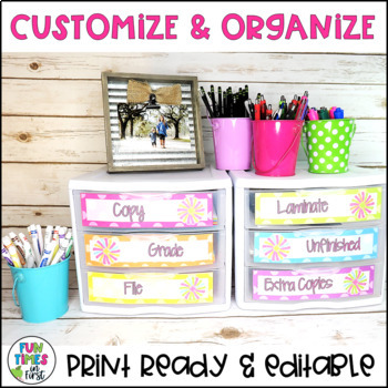 Classroom Labels {Bright Polka Dot Theme}