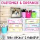 Classroom Labels {Bright Polka Dot Theme}