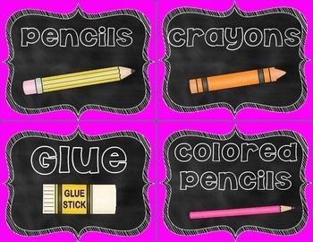 Classroom Labels- Brights Edition