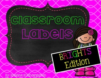Classroom Labels- Brights Edition