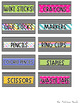 Classroom Labels *Brights on Black*