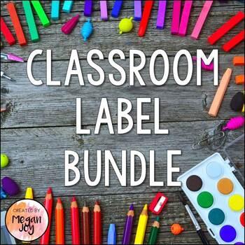 Classroom Labels (Bundle!)