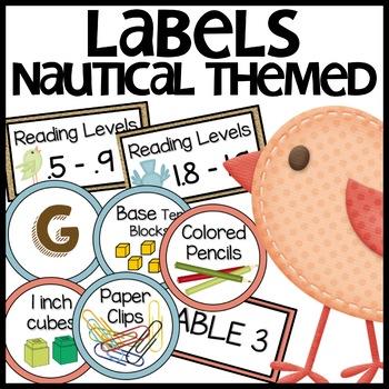 Classroom Labels (Burlap)