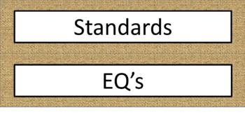 Classroom Labels - Burlap Megabundle