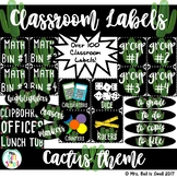 Classroom Labels (Cactus Theme)