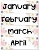 Classroom Labels, Calendar and Schedule Cards - FLORAL Theme