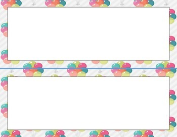 Classroom Labels (Carnival Theme)