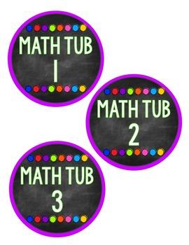 Classroom Labels: Chalkboard & Bright Dots (Editable)