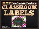 Classroom Labels Chalkboard Theme