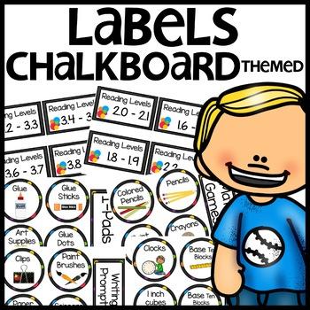 Classroom Labels (Chalkboard themed)