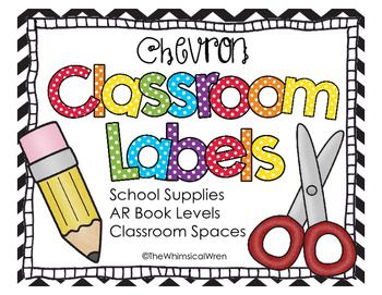 Classroom Labels - Chevron