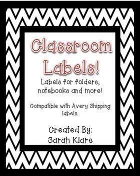 Classroom Labels {Chevron Borders}