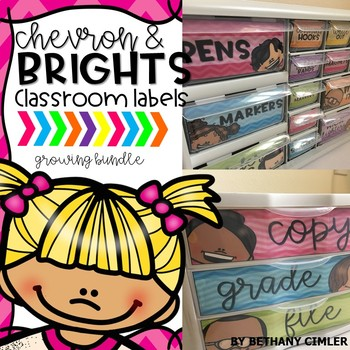 Classroom Labels | Chevron and Brights