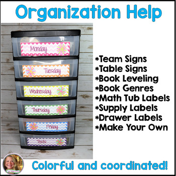 Classroom Labels {ChevronTheme}