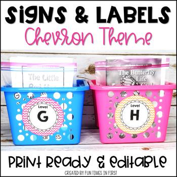 Classroom Labels {ChevronTheme}