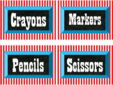 Classroom Labels, Circus Theme (Editable)