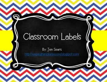 Classroom Labels (Classic School Theme)