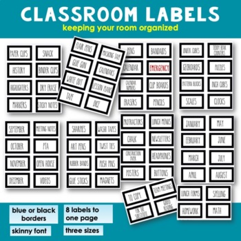 Classroom Labels - Classroom Organization - [For Everything] Primary Classrooms