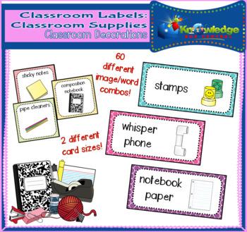 Classroom Labels: Classroom Supplies