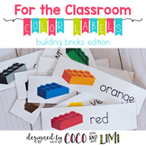 Classroom Labels - Colors - Building Bricks