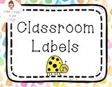 Classroom Labels - Cute Watercolor