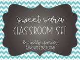 "Classroom Labels & Decor - ""Sweet Sara"""