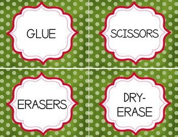 Classroom Labels - Dots, Editable
