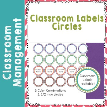 Editable Classroom Circle Labels